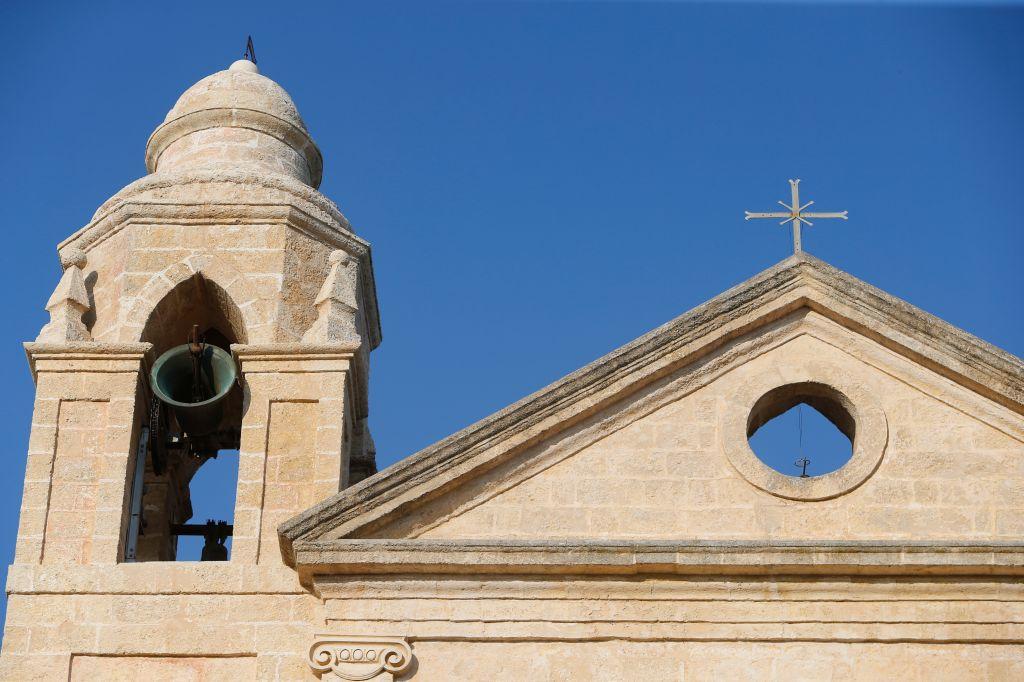 Church bell ringing.