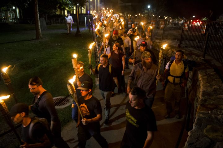 White Supremacists March with Torches in Charlottesville