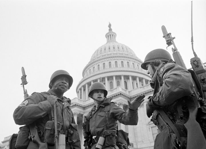 Soldiers Guarding Capitol Building