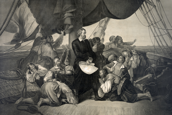 Christopher Columbus Discovering America