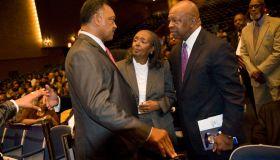 WASHINGTON, DC - SEPTEMBER 19: (L-R) Rev. Jesse Jackson, Patri