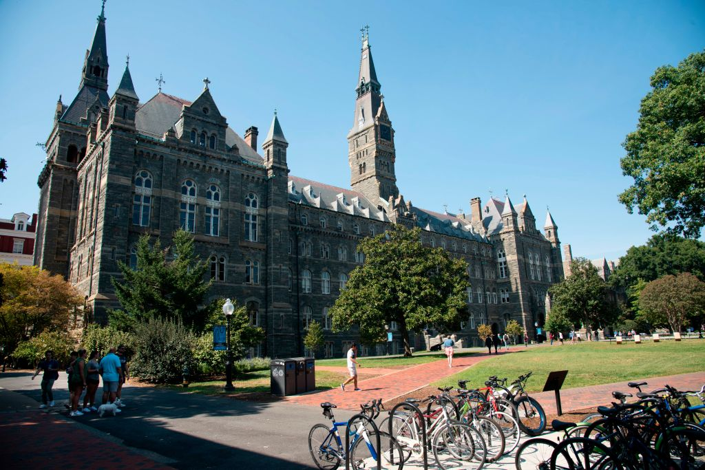 Healy Hall on the campus of Georgetown University, Washington, DC