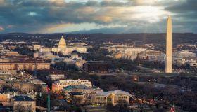 Top view of Washington DC down town