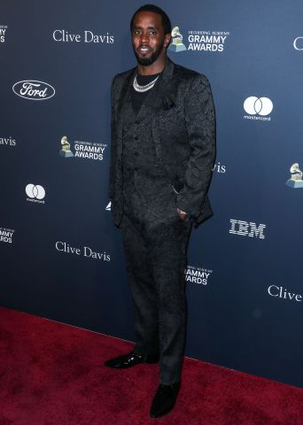Sean Diddy Combs arrives at The Recording Academy And Clive Davis' 2020 Pre-GRAMMY Gala held at The Beverly Hilton Hotel on January 25, 2020 in Beverly Hills, Los Angeles, California, United States.