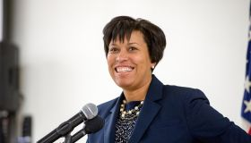 Washington, D.C. Mayor Muriel Bowser speaks at a D.C. Fire and EMS graduation ceremony for new recruits