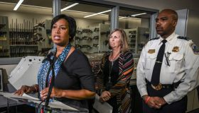 Mayor Muriel Bowser announces the availability of additional resources to support the Districts Criminal Gun Information Center, on September 24 in Washington, DC.