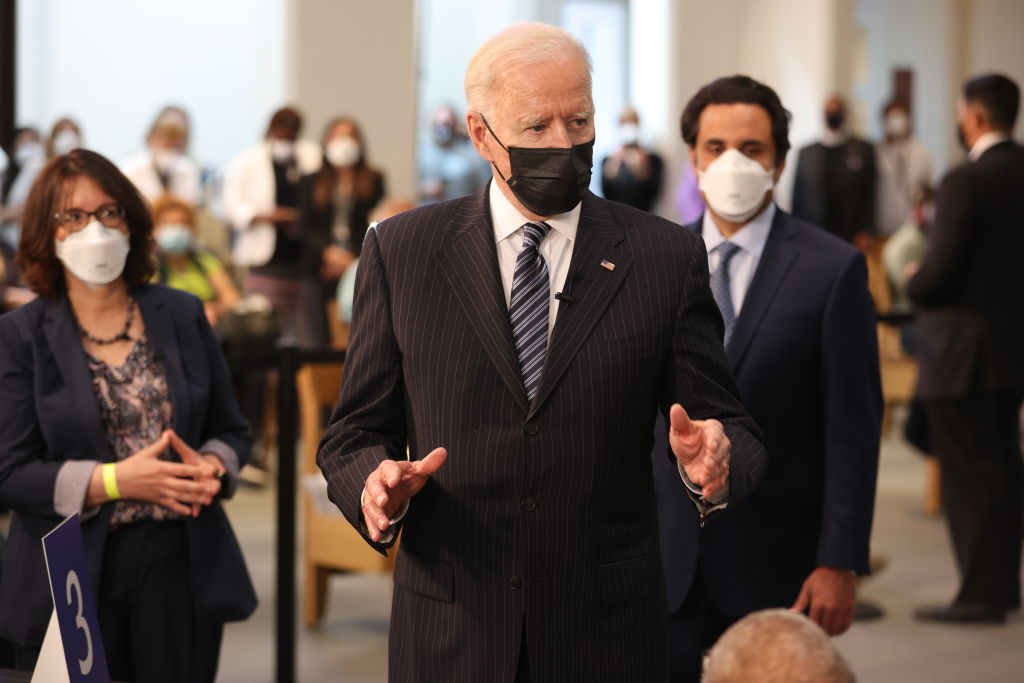President Biden Visits Covid-19 Vaccination Site