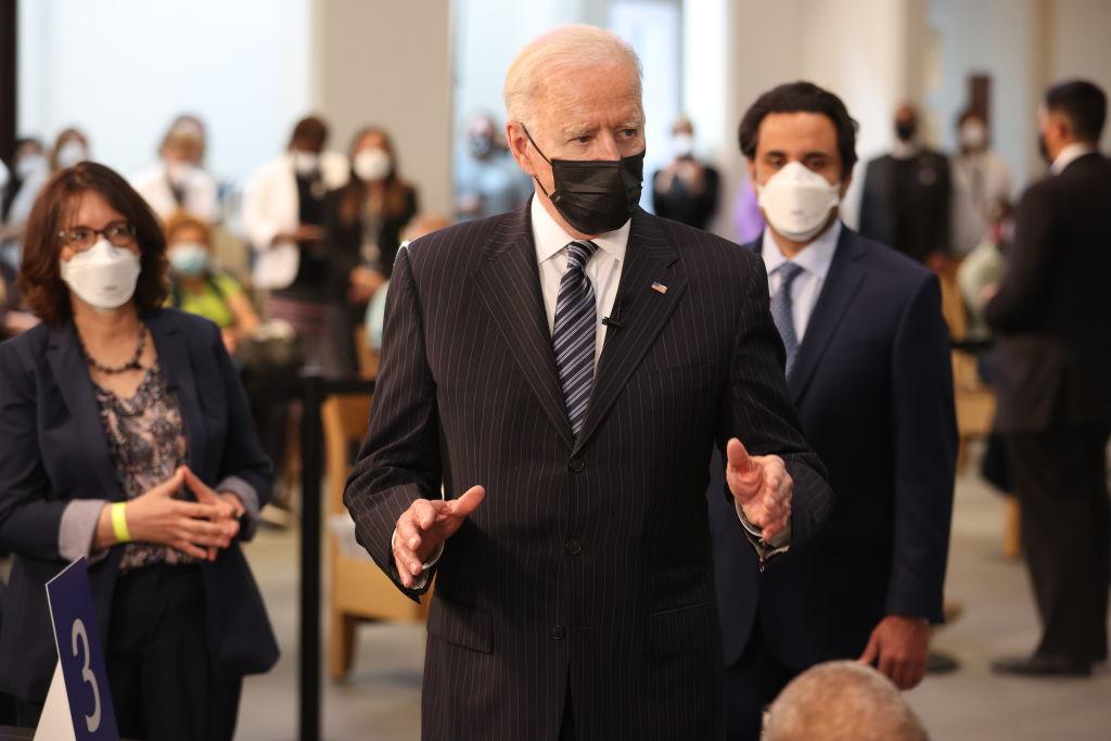 President Biden Visits Covid-19 Vaccination Site