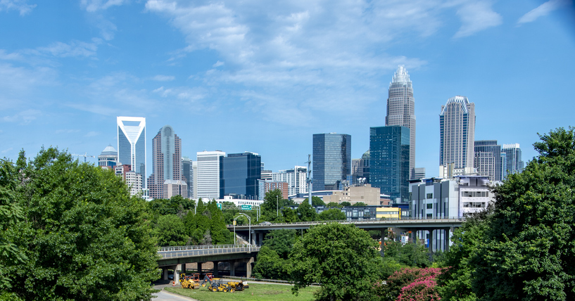 USA, North Carolina, Charlotte Skylina