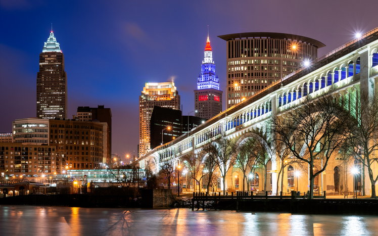 Skyline, Veterans Memorial Bridge, Cleveland, Ohio, America, best places to live, first time homebuyers