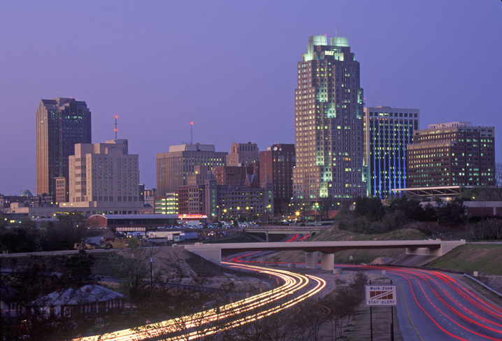 Skyline of Raleigh, NC at night, best places to live, first time homebuyers