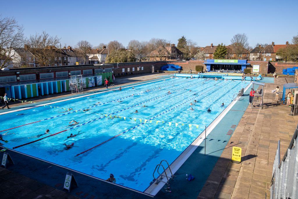 People enjoy swimming at Charlton Lido and Lifestyle Club