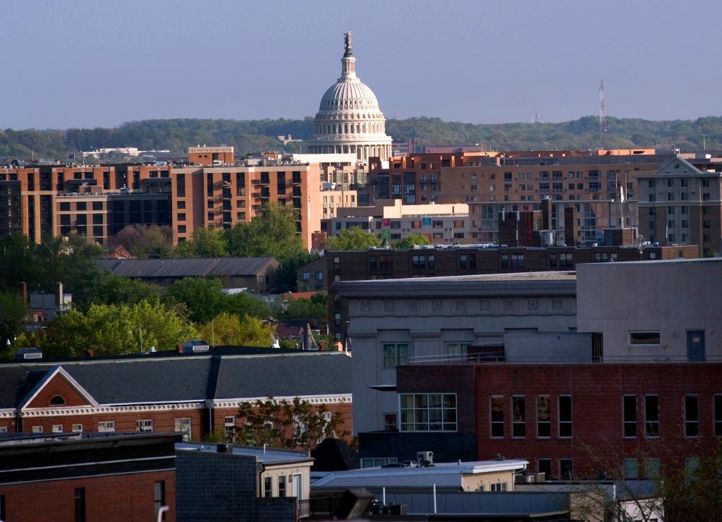 WASHINGTON, DC - APRIL 10; View of the U.S. Capitol in Washingt