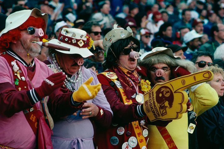 Washington Redskins Enthusiasts in Costumes